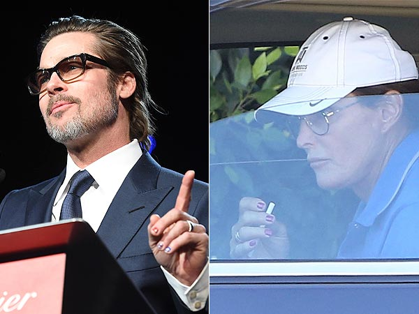 Brad Pitt and Bruce Jenner manicures