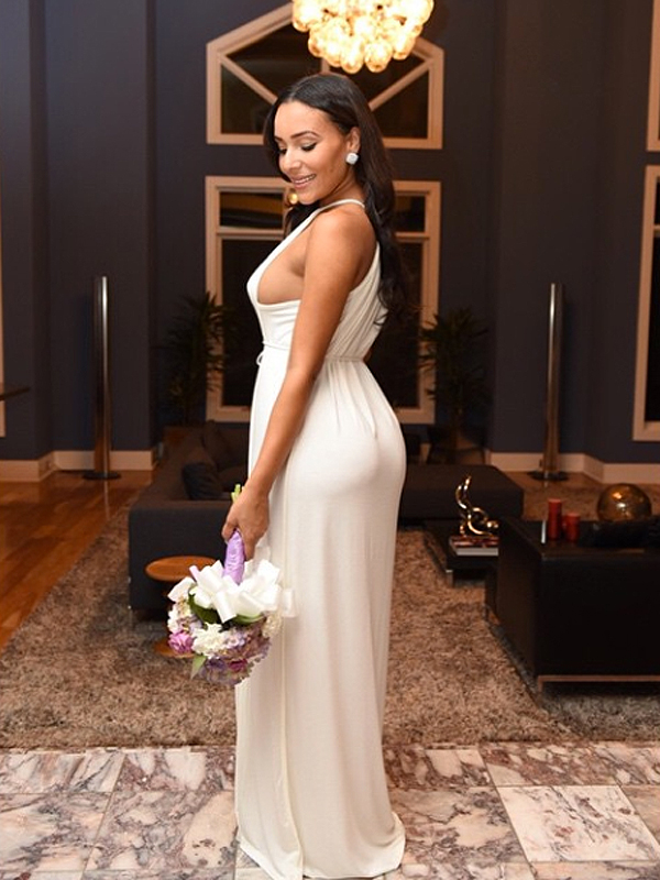 Ludacris wife wedding dress