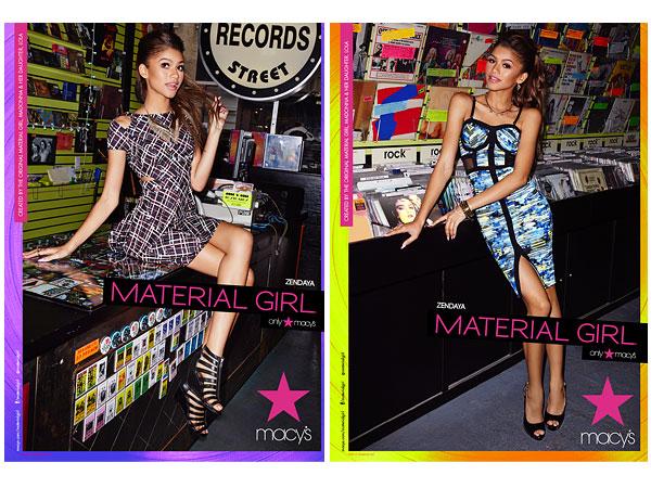 Zendaya Material Girl ads