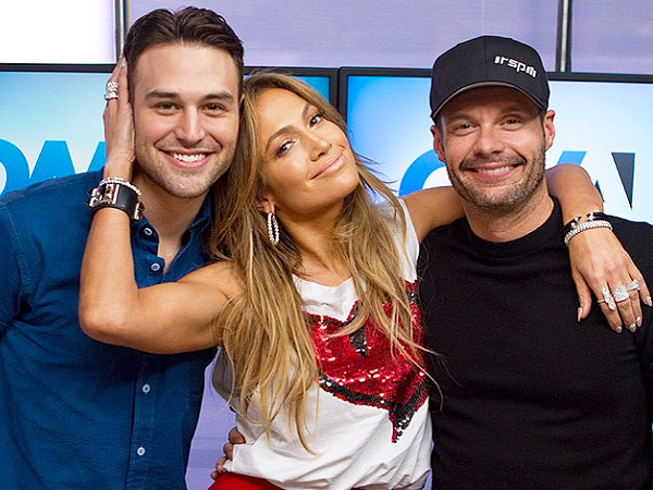 J Lo with Ryan Guzman and Ryan Seacrest - Instagram