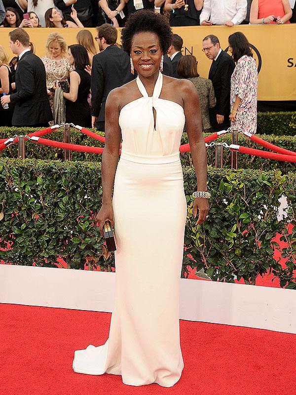 Viola Davis arrives at the 21st Annual Screen Actors