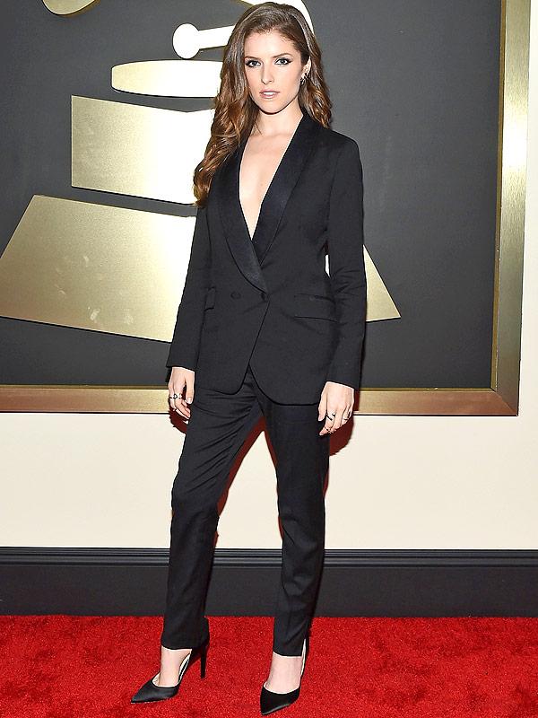 Anna Kendrick Grammys Tux