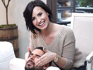 Wilmer Valderrama Plays Reluctant Model for Love Demi Lovato's Skin Care Line (VIDEO) | Demi Lovato, Wilmer Valderrama