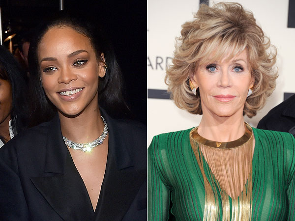 Grammys 2015 Rihanna and Jane Fonda necklaces