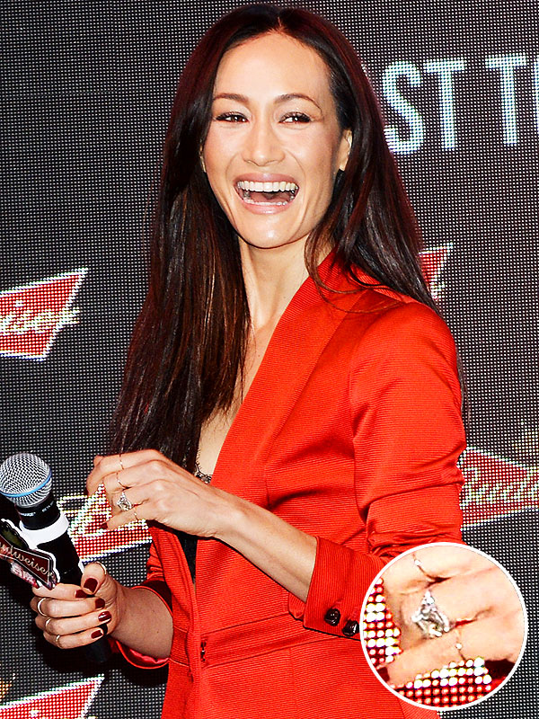 Maggie Q Engagement ring