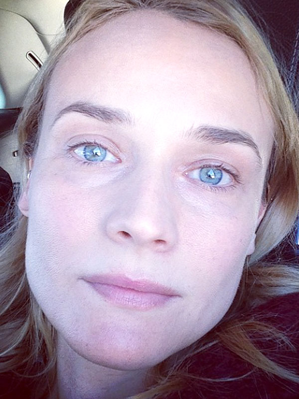 Diane Kruger makeup-free photo