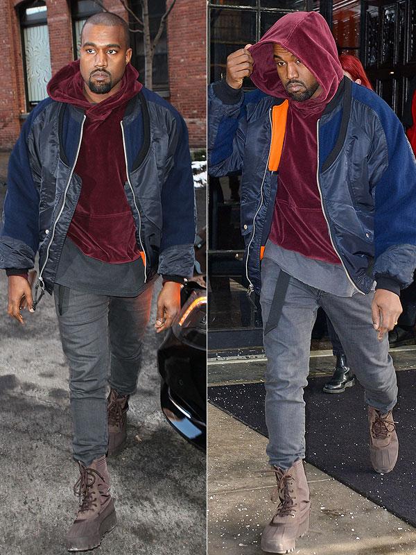 Kanye West Loves His Velour Sweatshirt, Kanye West Style   Style