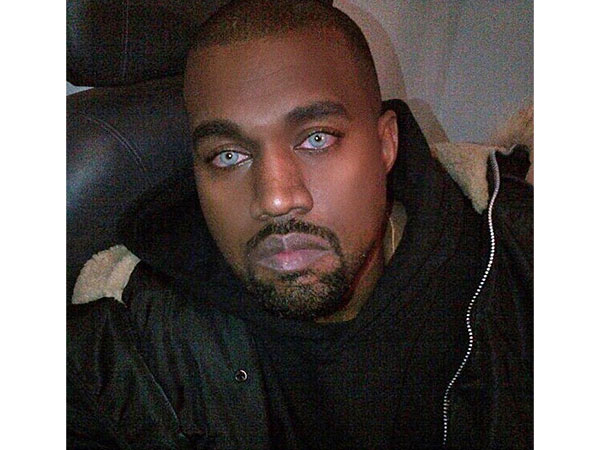Kanye West blue contacts