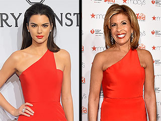 Kendall Jenner and Hoda Kotb Wear the Same Sexy Gown (and It's Fashion Faceoff Gold!)