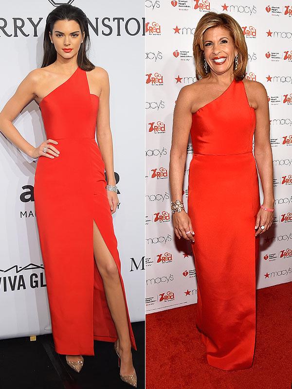 Hoda Kotb and Kendall Jenner Romona Keveza gown