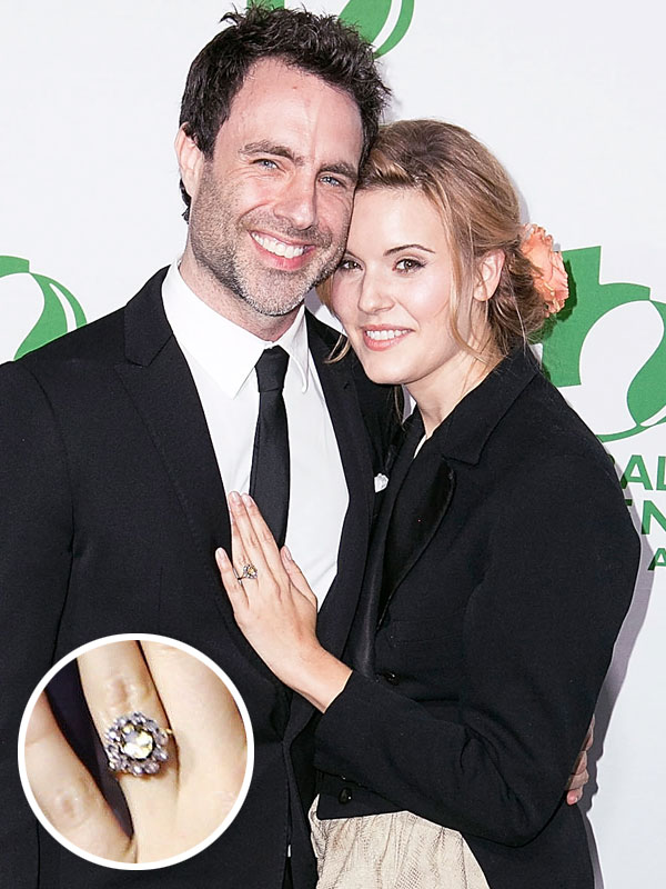 Maggie Grace (R) and Matthew Cooke announce their e