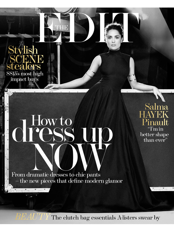 Salma Hayek's The Edit cover