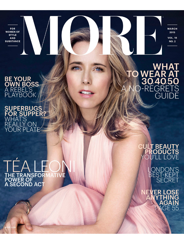 Tea Leoni in More Magazine