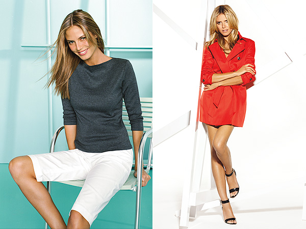 Heidi Klum models for INC's 30th anniversary