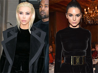 Style Twins! Kim Kardashian and Kendall Jenner Wear the Same Dress on the Same Day During Paris Fashion Week
