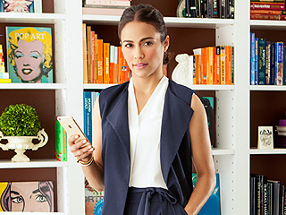 Paula Patton Models for Ellen Tracy: I Don't Even Want to Look Back at Photos of My Old Outfits! (PHOTOS)