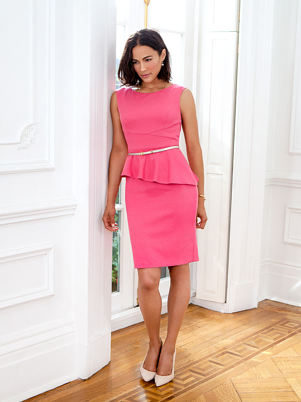 Paula Patton models for Ellen Tracy