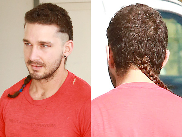 Shia LaBoeuf braided rat tail