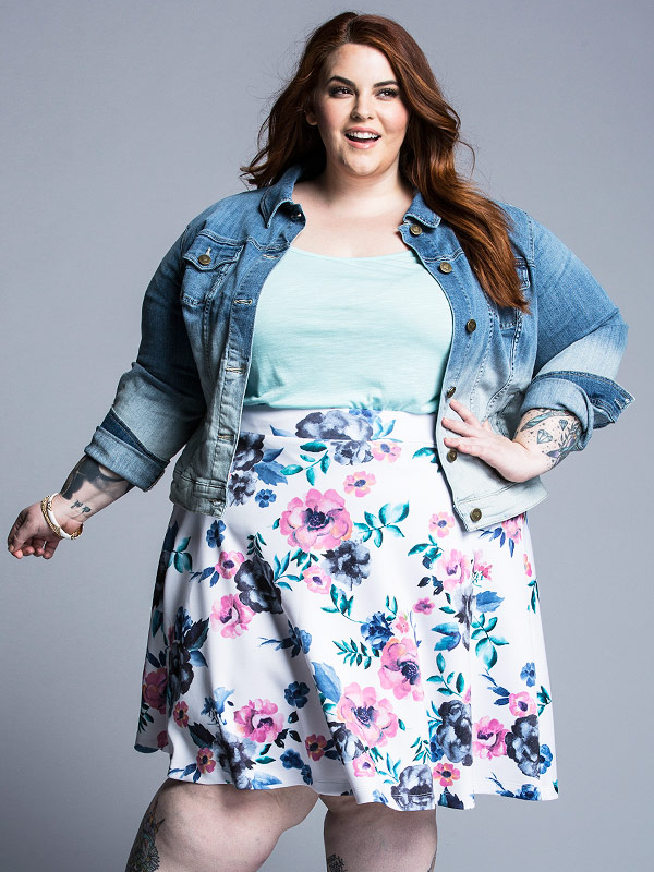 Tess Holliday models for Torrid