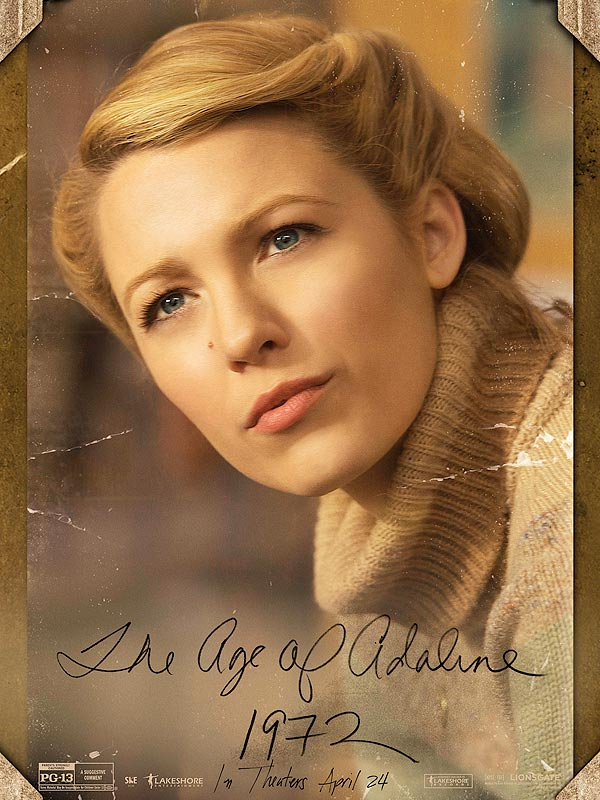 The Age of Adaline 1970s character poster