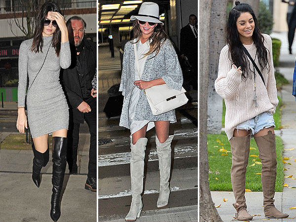 vanessa hudgens wearing boots celebritys