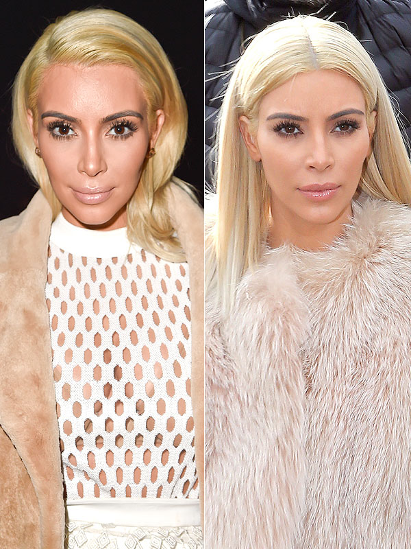 Kim Kardashian white blonde hair