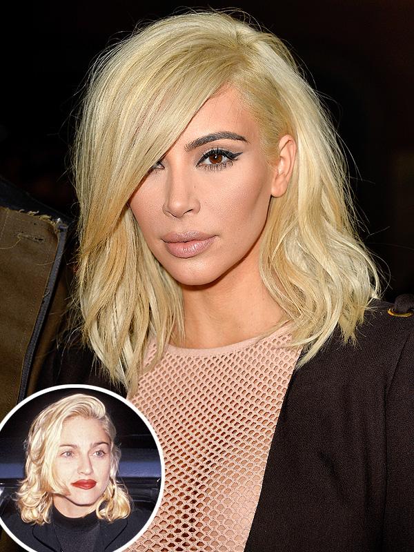 Kim Kardashian and Madonna
