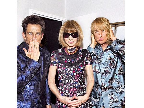 Ben Stiller, Anna Wintour and Owen Wilson