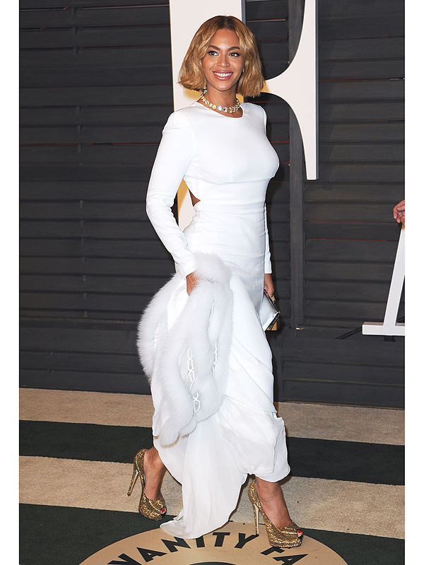 Beyoncé at the 2015 Vanity Fair Oscar Party
