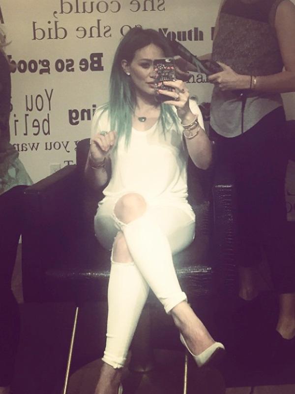 Hilary Duff Blue Mermaid Hair