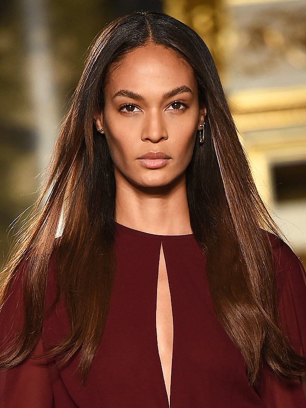 A model Joan Smalls walks the runway at the Emilio