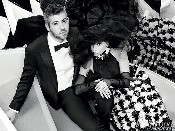 Karl Lagerfeld for The Hollywood Reporter=