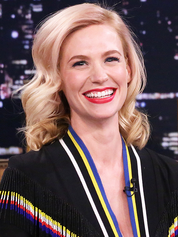 January Jones Tonight Show