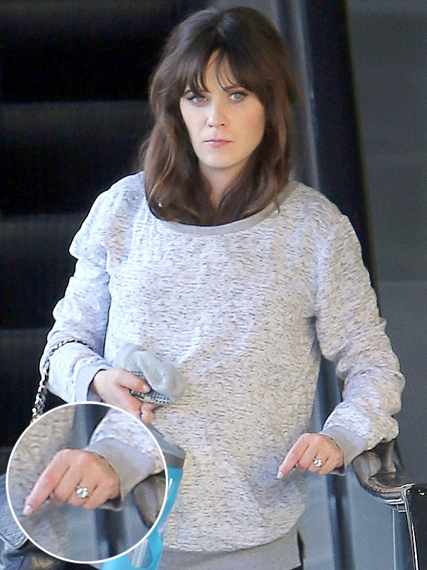 Zooey deschanel engagement ring