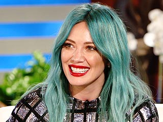 Hilary Duff Reveals Her Surprising Blue Hair Inspiration, Says Her 12 Tattoos Make Her Gangster and More