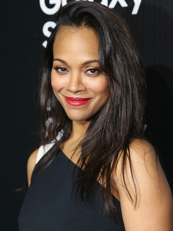 Zoe Saldana attends the Samsung Galaxy S 6 edge la