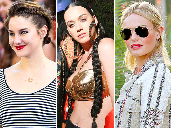 Shailene Woodley, Katy Perry braids