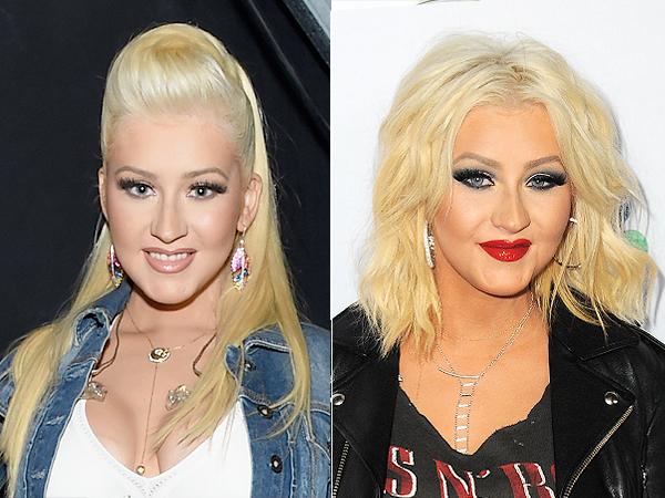 Christina Aguilera bob