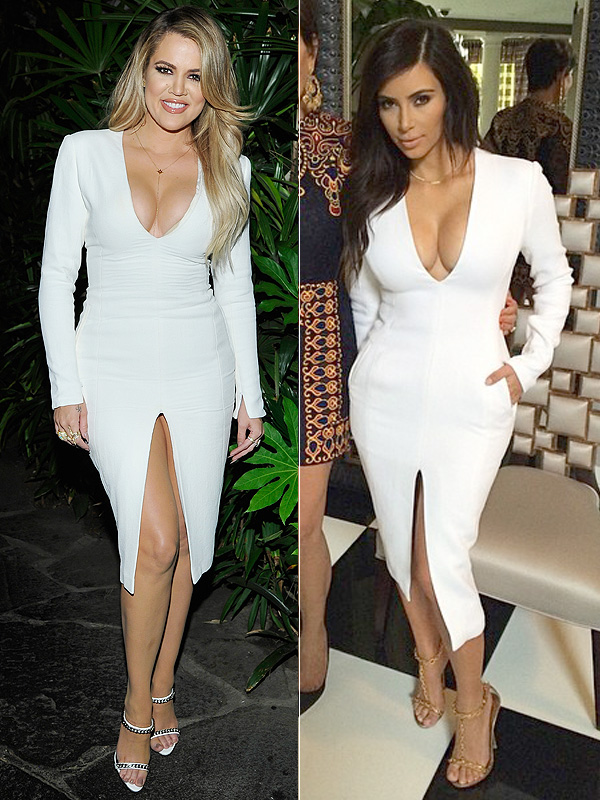 Khloe Kardashian vs. Kim Kardashian fashion faceoff