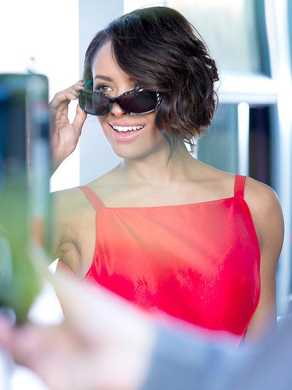 kat graham foster grant sunglasses