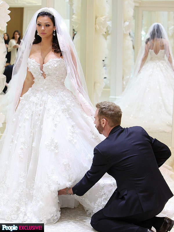JWoww wedding dress fitting