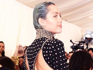 Miley Cyrus Debuts Ice-Blue Hair at Met Gala