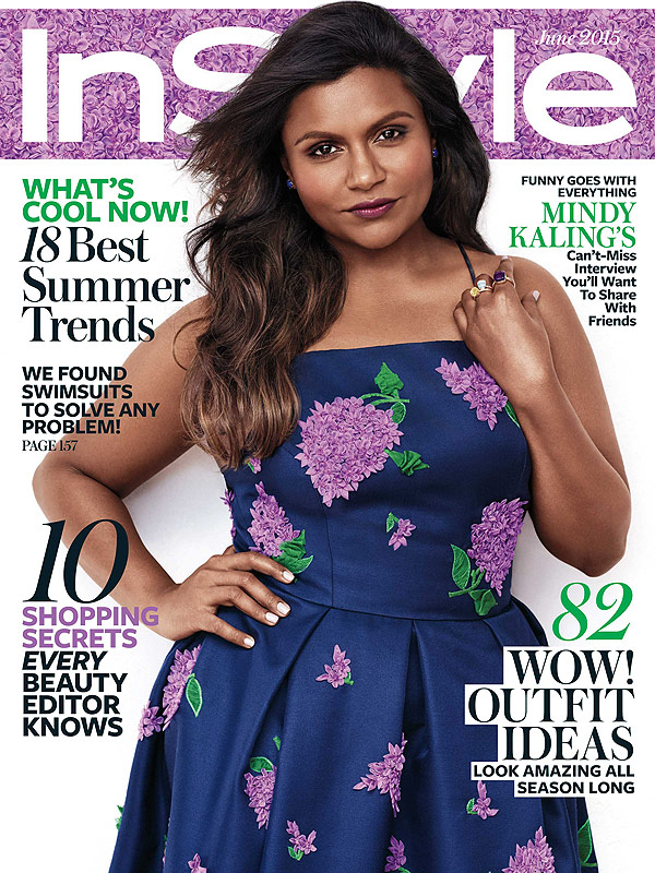 Mindy Kaling on cover of InStyle