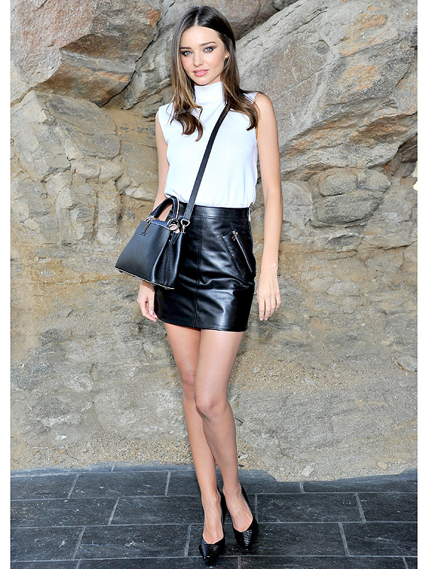 Miranda Kerr at the Louis Vuitton show in Palm Springs
