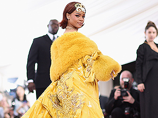 Rihanna Steals the Show in One of the Night's Most Extravagant Gowns (and Not Much Else!)