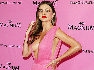 Miranda Kerr Wears Plunging Gown, Narrowly Avoids Wardrobe Malfunction at Cannes