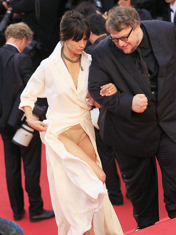 Sophie Marceau Cannes wardrobe malfunction