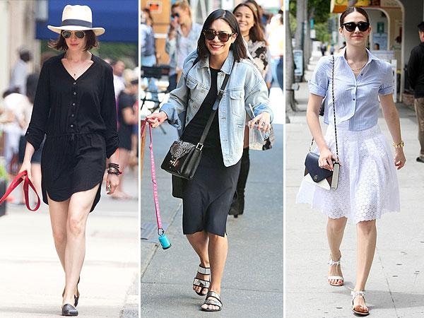 Anne Hathaway, Vanessa Hudgens and Emmy Rossum street style