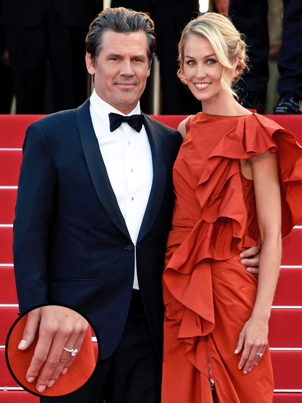 Josh Brolin and his fiancee Kathryn Boyd attend th