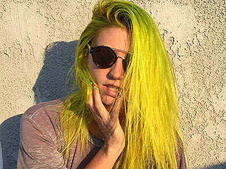 Kesha Dyes Hair 'Slimey' Green: See Her Transformation